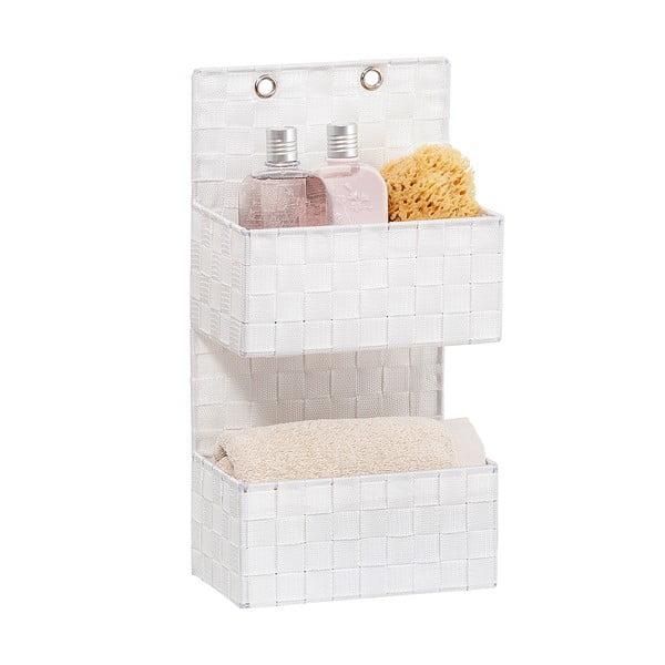 Bílý dvojitý koupelnový organizér Wenko Adria