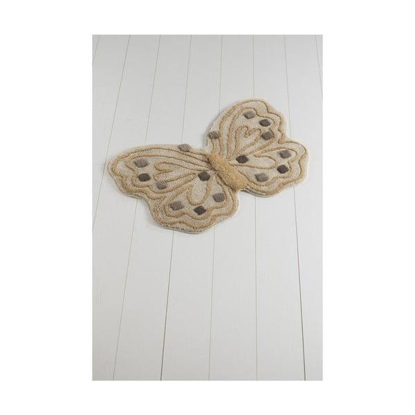Alessia Kelebek Brown fürdőszobai kilépő, 70 x 120 cm