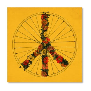 Plakát Peace And Bike od Florenta Bodart, 30x30 cm