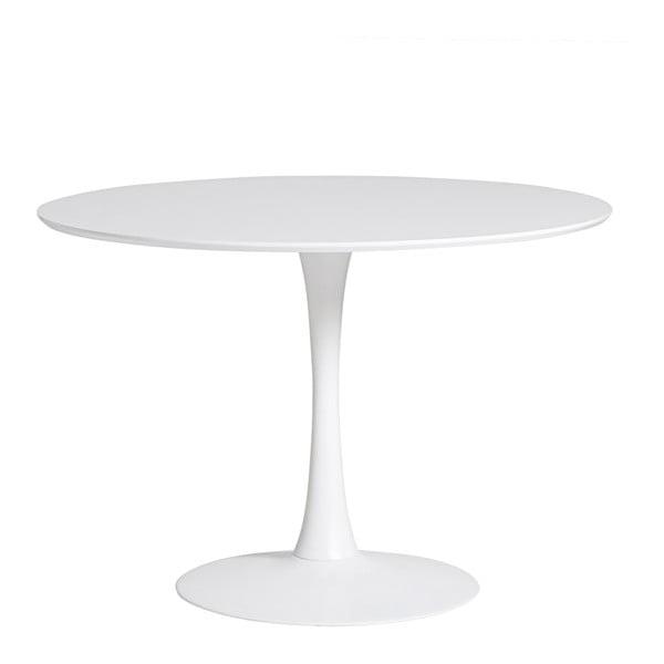 Kulatý bílý jídelní stůl Marckeric Oda, ⌀ 110 cm