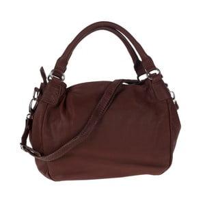 Tmavě hnědá kožená kabelka Tina Panicucci Remy