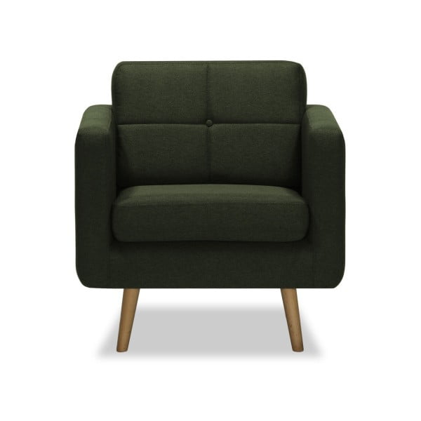 Ciemnozielony fotel Vivonita Magnus