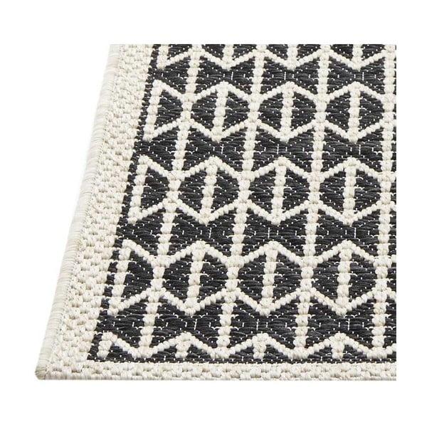 Černý vysoce odolný koberec Webtappeti Stuoia,135x190cm