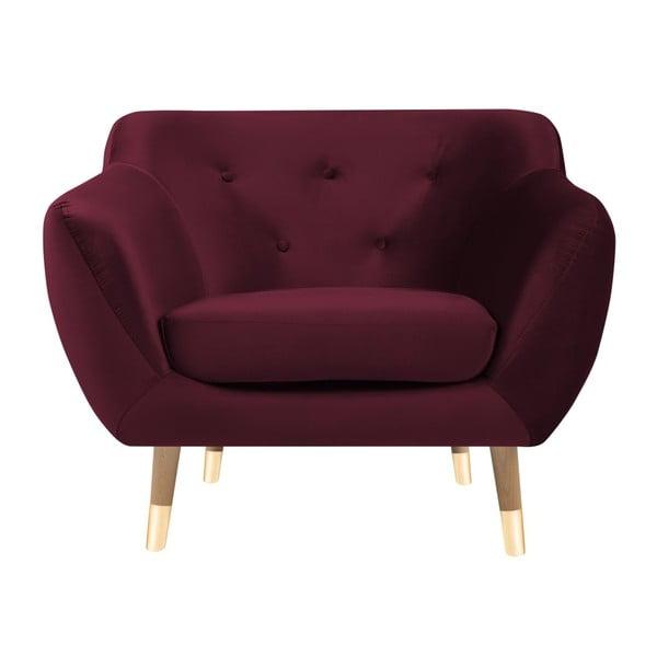 Burgundowy fotel Mazzini Sofas Amelie