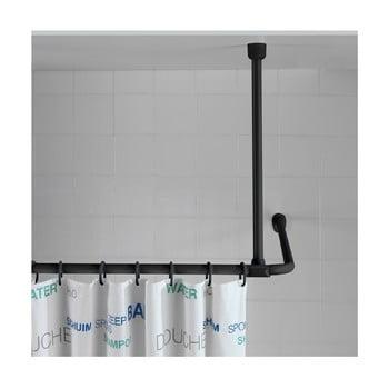 Suport tavan pentru perdea duș Wenko, 57 cm, negru de la Wenko