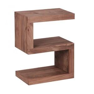 Odkládací stolek z masivního akáciového dřeva Skyport Rosana