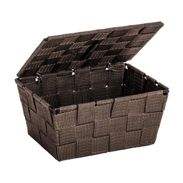 Brązowy koszyk z wiekiem Wenko Adria, 14x19 cm