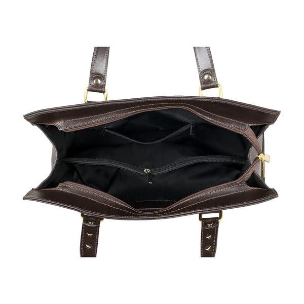 Tmavě hnědá kožená kabelka Ore Diece Frosinone