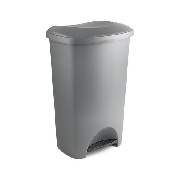 Szary kosz na śmieci na pedał z wiekiem Addis, 41x33x62,5 cm