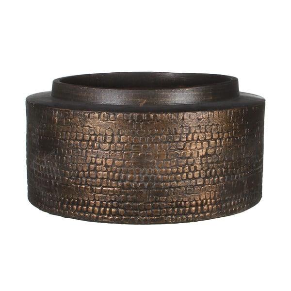 Keramická váza Brasa Black Copper, 30 cm
