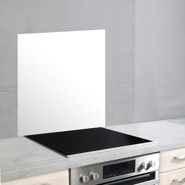 Fehér üveg falvédő tűzhely mellé, 70 x 60 cm - Wenko