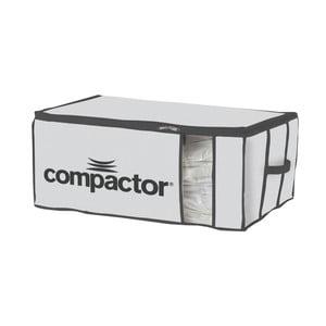 Bílý textilní úložný box Compactor Brand XXL