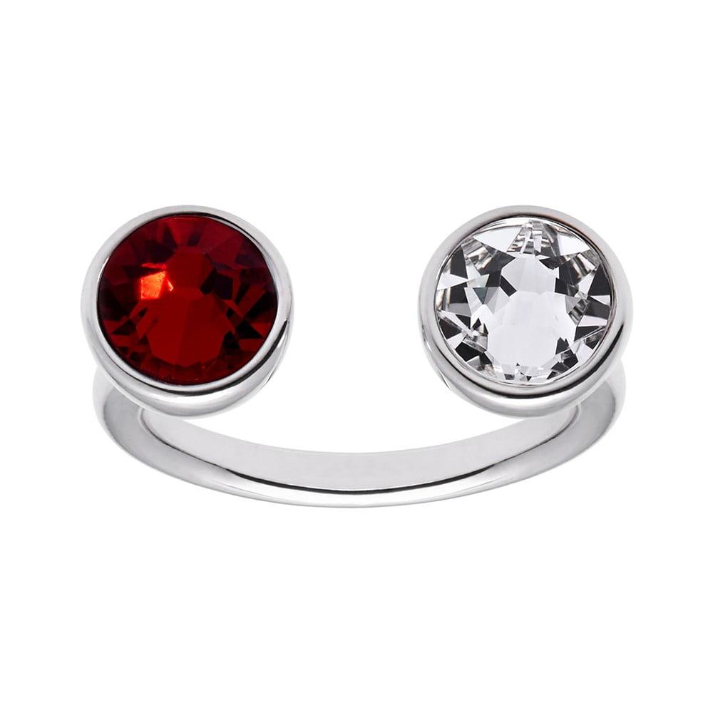 Prsten s červeným krystalem Swarovski® GemSeller