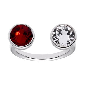 Inel cu cristal roșu Swarovski® Gemseller