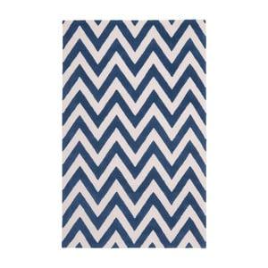 Vlněný koberec Safavieh Stella Navy, 274 x 182 cm
