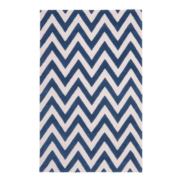 Vlnený koberec Stella Navy, 182x274 cm