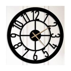 Černé kovové nástěnné hodiny Albert
