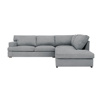 Canapea Windsor & Co Sofas Charles pe partea dreaptă gri