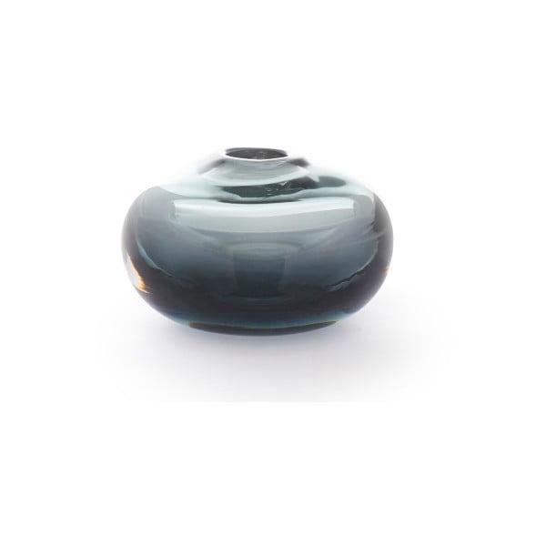 Modrá skleněná váza A Simple Mess Blad, ⌀8,5cm