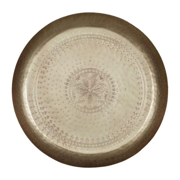 Dekorativní podnos s mosazným detailem De Eekhoorn Waitress, Ø55cm