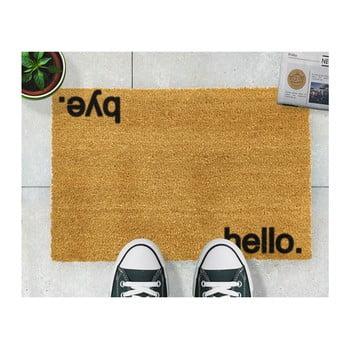 Covoraș intrare din fibre de cocos Artsy Doormats Hello, Bye, 40 x 60 cm de la Artsy Doormats