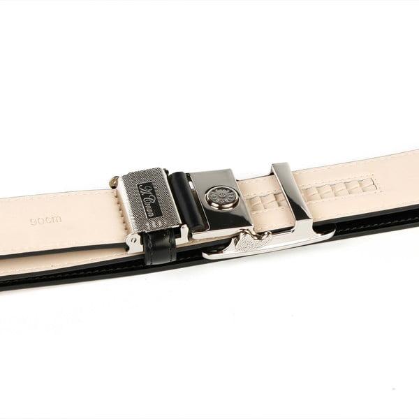 Pánský kožený pásek 37B10 Black, 110 cm