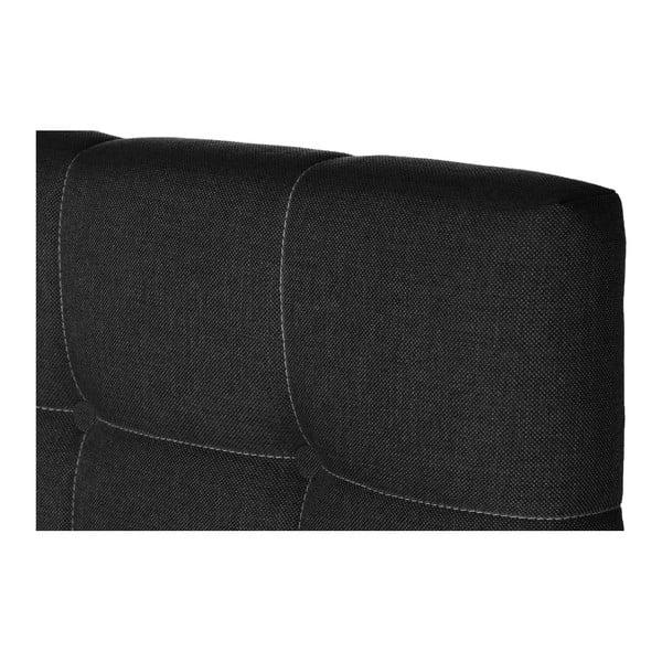 Tmavě šedá postel s matrací Stella Cadente Mars Saches, 140x200 cm