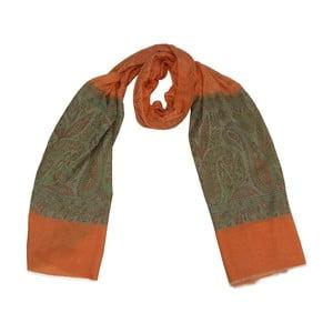 Vlněný šátek Shirin Sehan Lorena Sunset