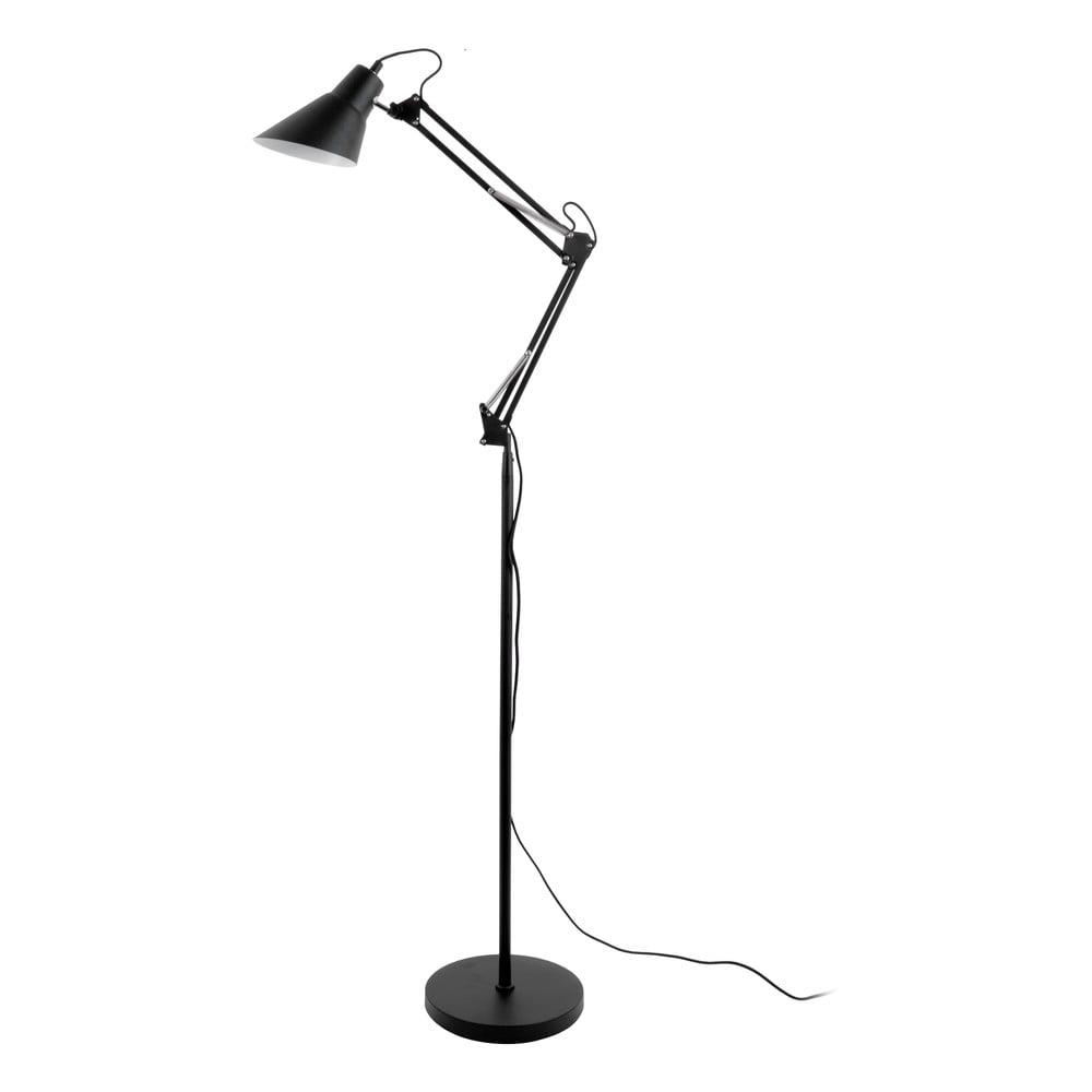 Černá železná stojací lampa Leitmotiv Fit