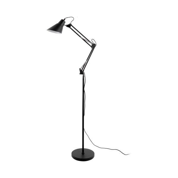 Czarna żelazna lampa stojąca Leitmotiv Fit