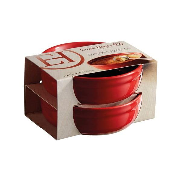 Set 2 forme de copt crème brûlée Emile Henry, roșu