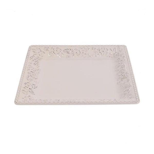 Keramický talíř White Brushed, 32 cm