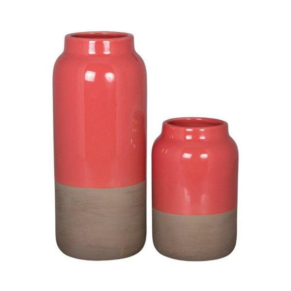 Set váz Natural Rojo, 2 ks