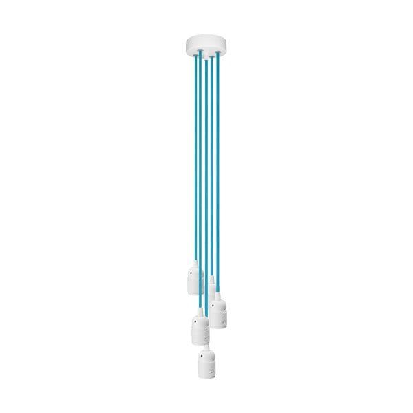 Pětice závěsných kabelů Uno, modrá/bílá