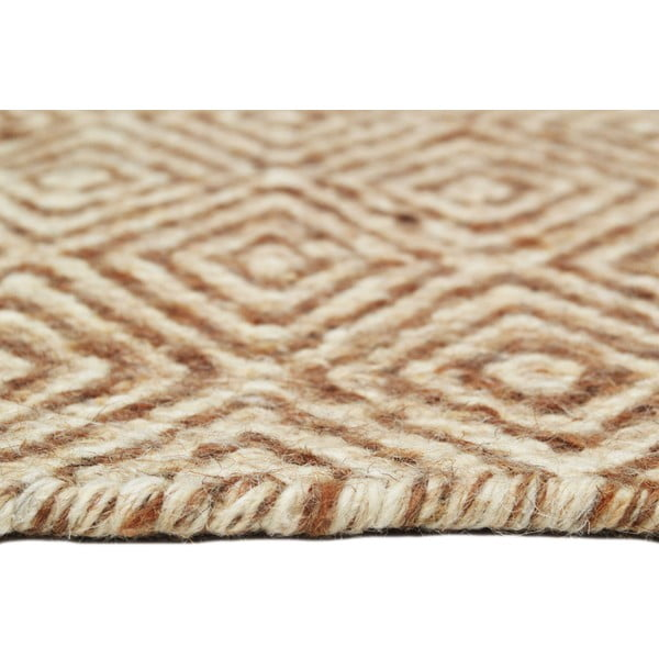 Ručně tkaný koberec Light Brown Pattern Kilim, 152x212 cm