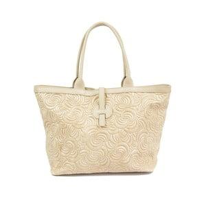 Béžová kožená kabelka Carla Ferreri Daisy