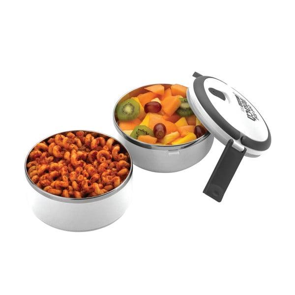 Bílá kulatá miska na oběd Pioneer Lunchbox