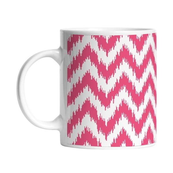Keramický hrnek Pink Waves, 330 ml