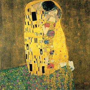 Reprodukce obrazu Gustav Klimt - The Kiss, 60 x 60 cm