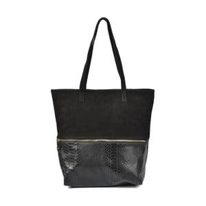 Černá kožená kabelka Luisa Vannini Dana