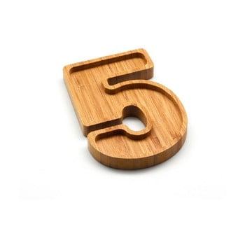 Platou din bambus Bambum Numero Five