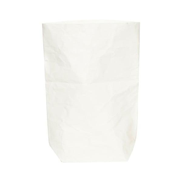 Suport pentru ghiveci din hârtie lavabilă Furniteam Plant, înălțime 62 cm, alb