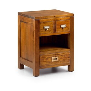 Noční stolek z mahagonového dřeva se 3 zásuvkami Moycor Flamingo Less