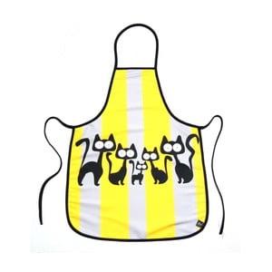 Zástěra Žluto-šedé kočky