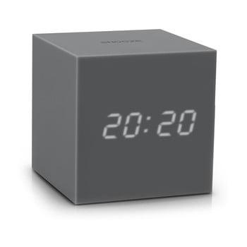 Ceas gri cu LED Gingko Gravity Cube de la Gingko