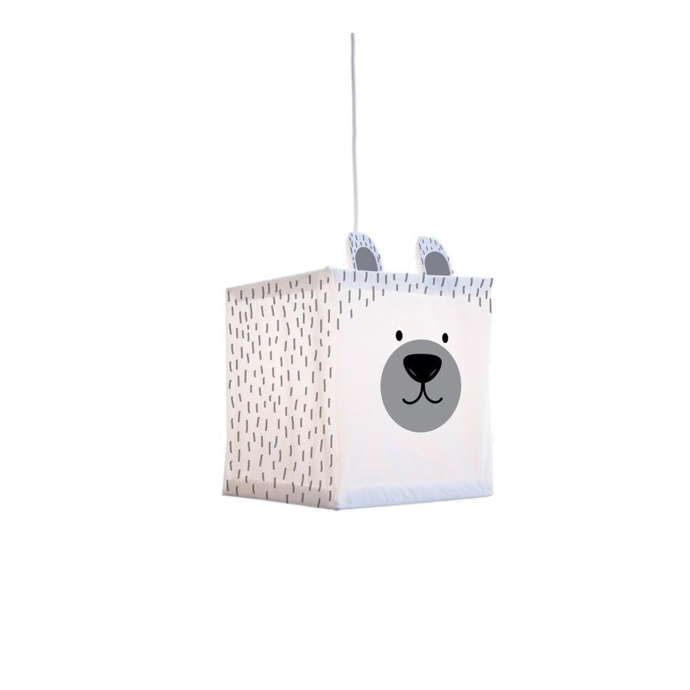 Bílé závěsné svítidlo Little Nice Things Polar Bear