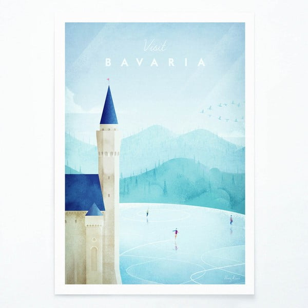Poster Travelposter Bavaria, A3