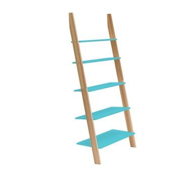 Raft în formă de scară Ragaba ASHME, lățime 85 cm, turcoaz imagine