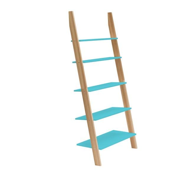 Tyrkysová rebríková polica Ragaba ASHME, šírka85cm