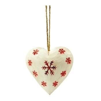 Decorațiune suspendată în formă de inimă Antic Line Coeur, alb-roșu de la Antic Line